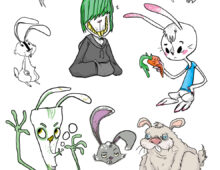 """Rabbits"" Character Design"